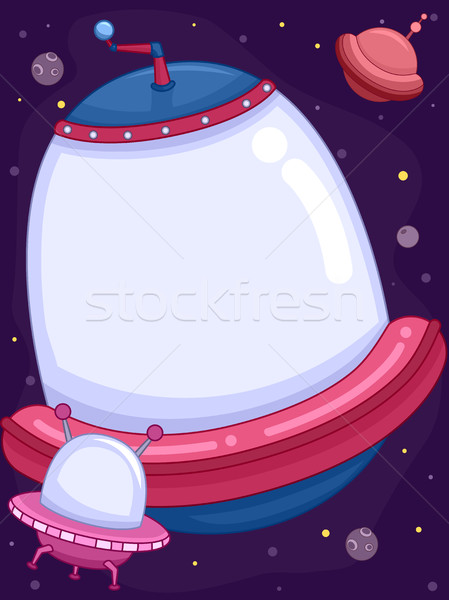 űrhajó keret illusztráció kicsi nagyobb egy Stock fotó © lenm