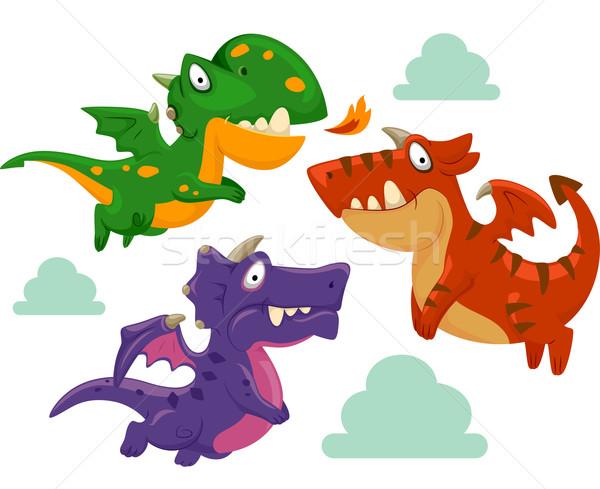 Dragons Mascot Stock photo © lenm