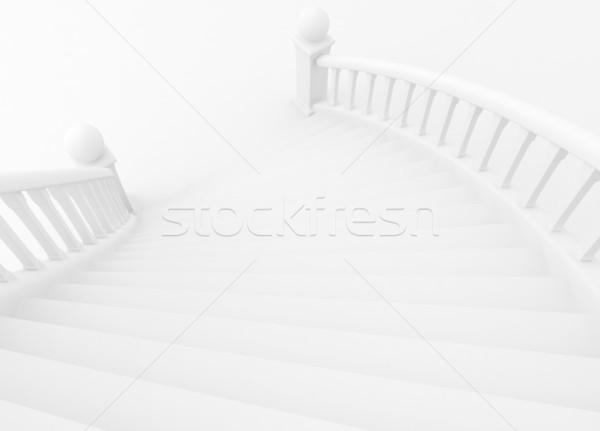 Lépcsőház 3d illusztráció út növekedés kilátás 3D Stock fotó © lenm