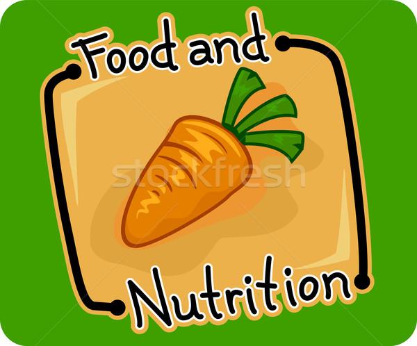étel táplálkozás ikon illusztráció háló diéta Stock fotó © lenm