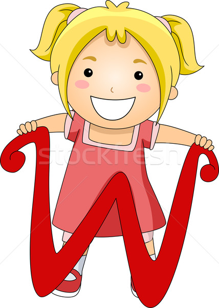 List dziecko ilustracja stałego za list w Zdjęcia stock © lenm