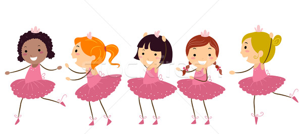 Ballet Girls Stock photo © lenm