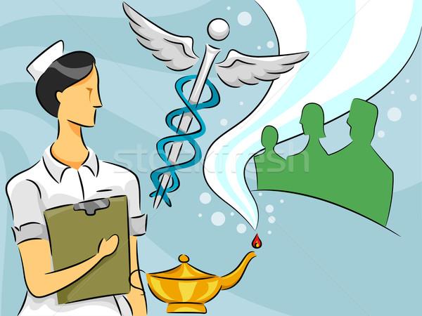 Nurse Woman Stock photo © lenm