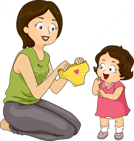 подгузник трусики иллюстрация матери дочь Сток-фото © lenm