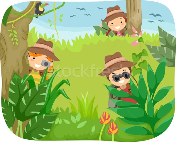 Kids Jungle Adventure Stock photo © lenm
