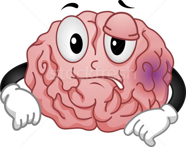 Cerebro mascota ilustración médicos salud bienestar Foto stock © lenm