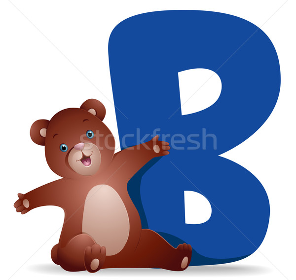 B for Bear Stock photo © lenm