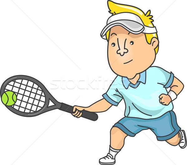 Tennis Man Stock photo © lenm