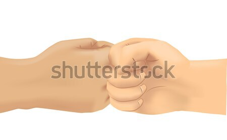 Hand Fist Bump Stock photo © lenm