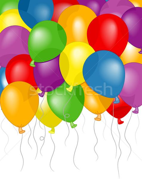 Ballonnen partij achtergrond illustratie kleurrijk ontwerp Stockfoto © lenm