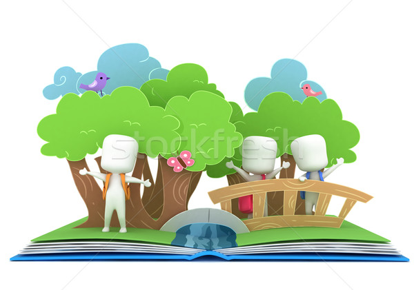 Pop up livre 3d illustration enfants sur Photo stock © lenm