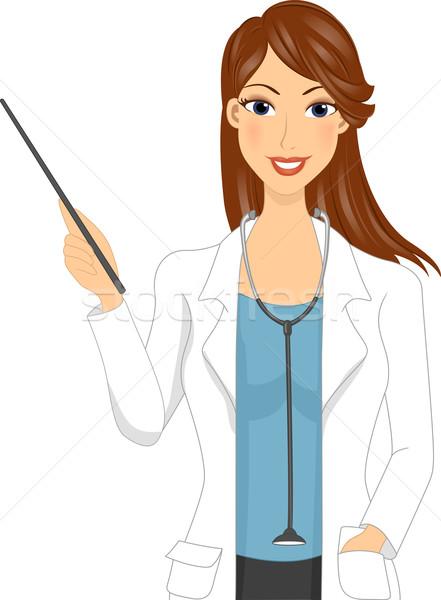 Wykładowca ilustracja lekarza pracy klasy kobiet Zdjęcia stock © lenm