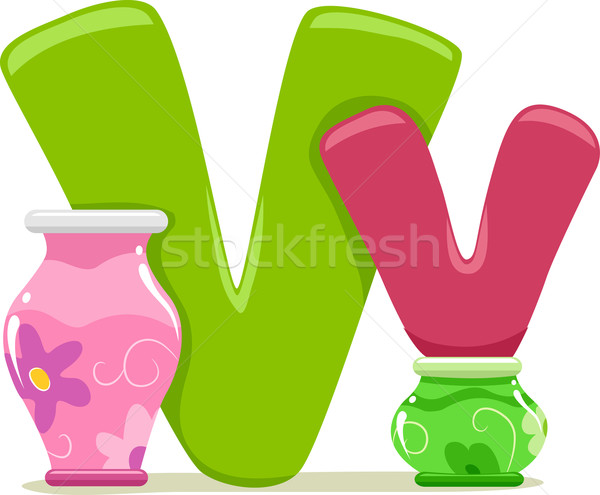 Letter V Stock photo © lenm