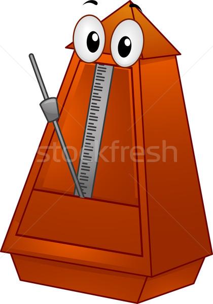 Mascote ilustração música vetor clip-art Foto stock © lenm