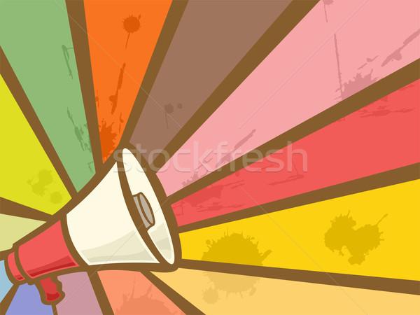 Megafone colorido ilustração diferente cores Foto stock © lenm