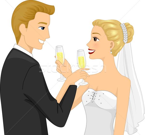Wedding Toast Stock photo © lenm