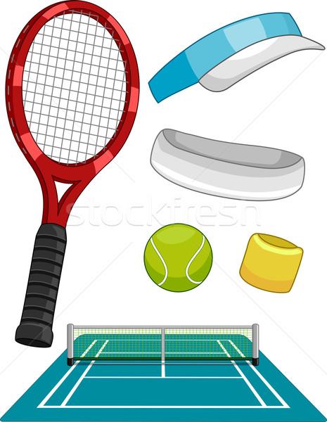 Lawn Tennis Items Stock photo © lenm