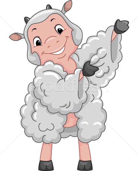 羊 マスコット 実例 ドレス ファブリック 動物 ストックフォト © lenm