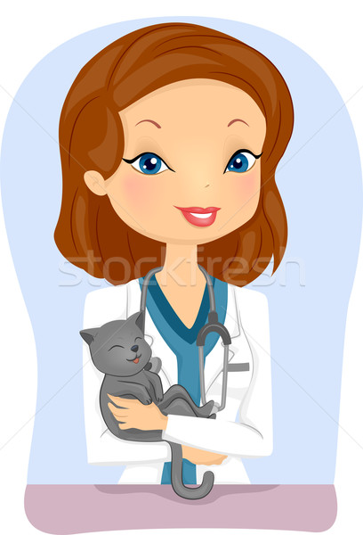 Cat Veterinarian Stock photo © lenm
