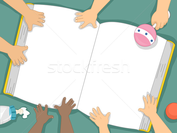 Baby Book Background Stock photo © lenm