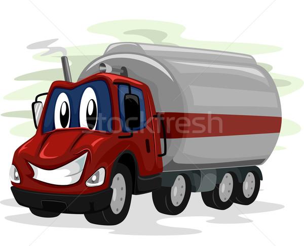 талисман нефть грузовика иллюстрация широкий Сток-фото © lenm