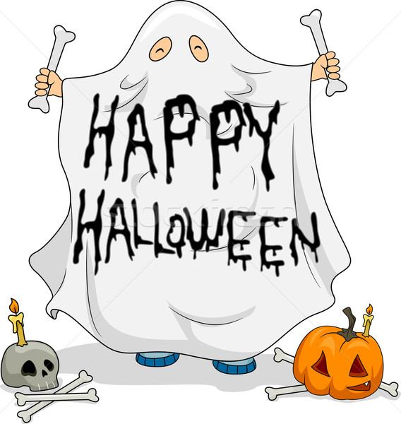 Halloween Ghost Stock photo © lenm