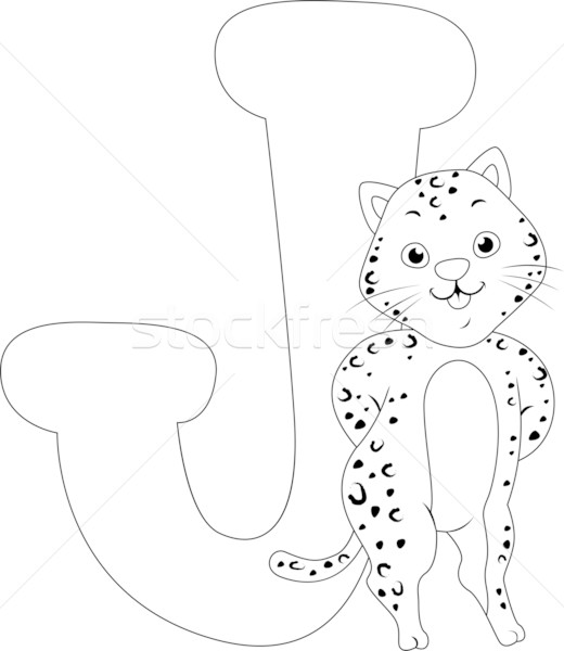 Coloring Page Jaguar Stock photo © lenm