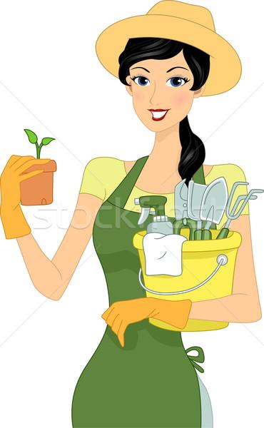 Gardening Girl Stock photo © lenm