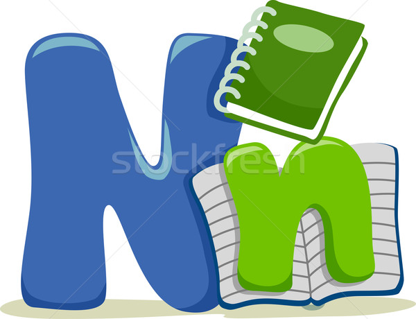 Ilustracja edukacji list nauki notatnika Zdjęcia stock © lenm