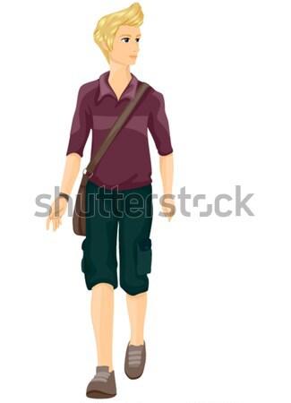 Man Walking Stock photo © lenm