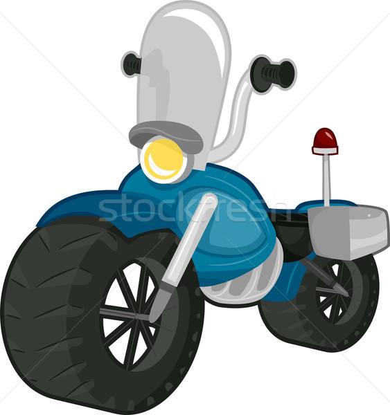 Policji motocykl ilustracja przednia szyba projektu chłopca Zdjęcia stock © lenm