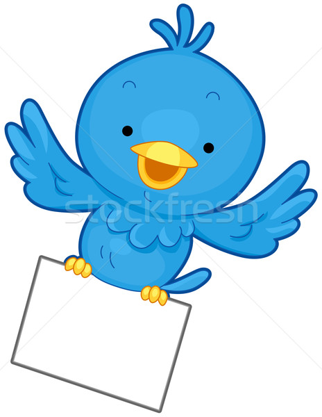 Stockfoto: Vogel · bericht · weinig · Blauw · vliegen · stuk