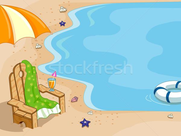 şezlong arka plan örnek deniz yaz okyanus Stok fotoğraf © lenm