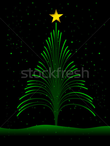 Photo stock: Arbre · de · noël · design · Noël · fibre · optique