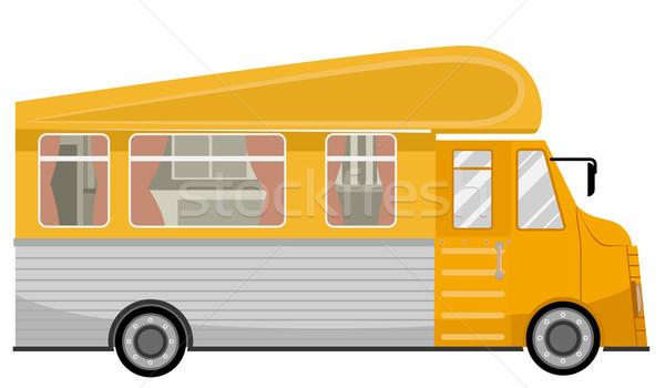 Vehicle Trailer House Stock photo © lenm
