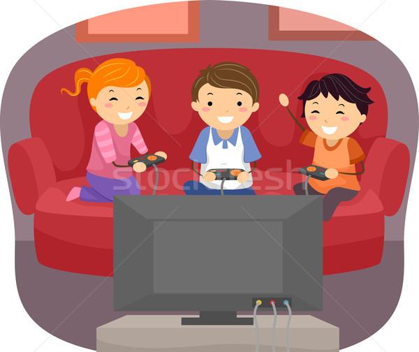 Video Game Kids Stock photo © lenm