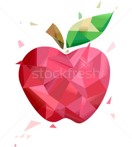 Abstract Apple Geometric Design Stock photo © lenm