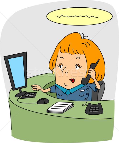 Recepcjonista ilustracja pracy biuro informacji kobiet Zdjęcia stock © lenm