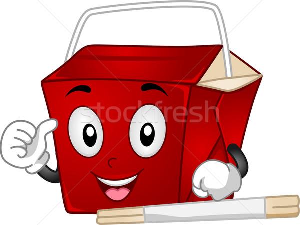 Chinese Takeout Box Mascot Stock photo © lenm