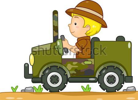 Dump Truck Kid Stock photo © lenm