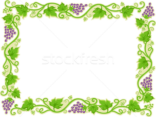 Frame with Grapevine Borders Stock photo © lenm
