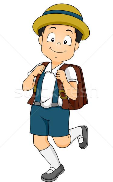 мужчины Японский студент иллюстрация начальная школа Сток-фото © lenm
