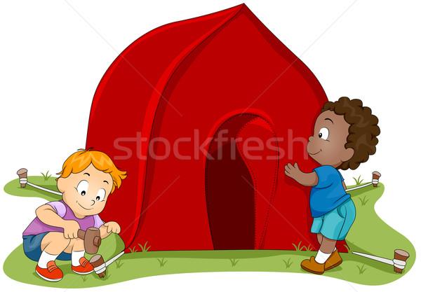 Tent Setup Stock photo © lenm