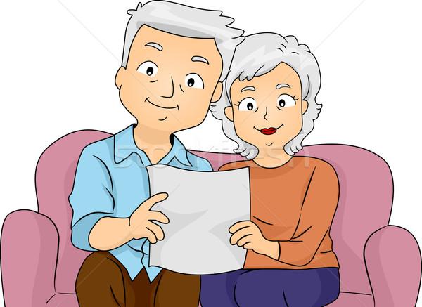 Emeklilik plan örnek okuma birlikte Stok fotoğraf © lenm