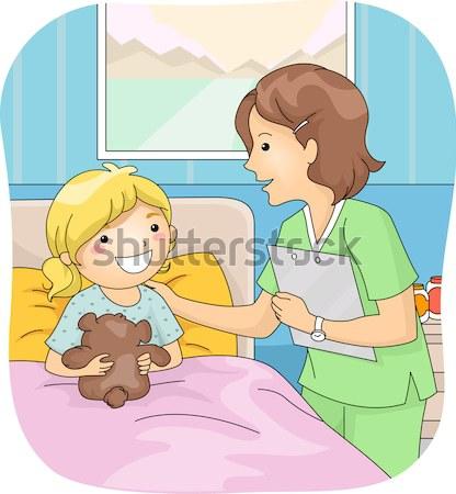 Utazás állatkert illusztráció gyerekek gyermek fiú Stock fotó © lenm