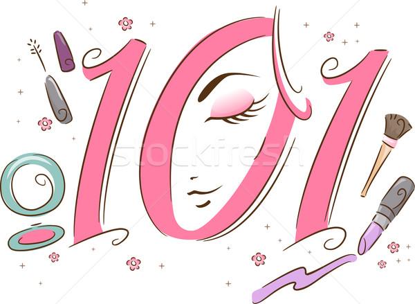 макияж 101 иллюстрация применение красоту Сток-фото © lenm