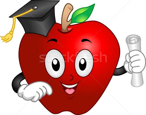 Apple Mascot Graduate Stock photo © lenm