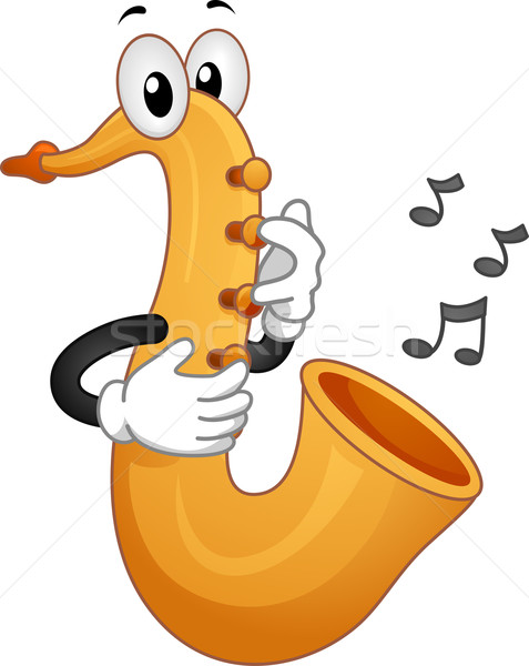 Saxophone Mascot Stock photo © lenm