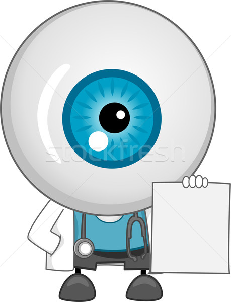 Eyeball Doctor Mascot With Blank Prescription Stock photo © lenm