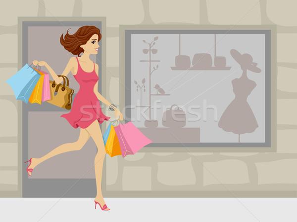 Shopping Spree Girl Stock photo © lenm